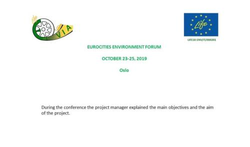 EUROCITIES ENVIRONMENT FORUM  October 23-25, 2019
