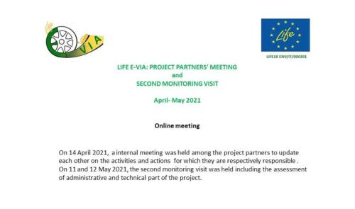 LIFE E-VIA: PROJECT PARTNERS' MEETING and SECOND MONITORING VISIT